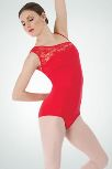 body wrappers p220 adult asymmetrical lace shoulder leotard