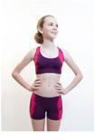 amb design 19010 girls shibori bra & shorts set