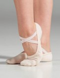 suffolk 3001 slipor stretch canvas split sole ballet shoe