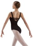 leos ld126lc adult double back strap tank leotard