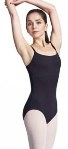 bloch l8730 nylon leotard with adjustable strap and bra