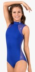 body wrappers tw622 mock neck open back leotard
