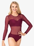 body wrappers nl200 adult competition leotard with power mesh body and sleeves