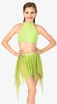 body wrappers nl1109 child convertible power mesh dance skirt