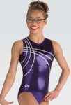 gk 3637 purple waterfall tank gymnastics leotard