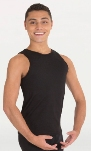 body wrappers m407 prowear mens hi neck tank pullover