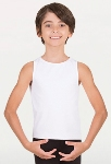 body wrappers b407 prowear boys hi neck tank pullover