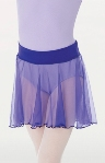 body wrappers 122r medium length chiffon tapered pull on skirt