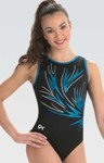 gk elite 10501 electric night gymnastics leotard