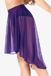 body wrappers bw9101 adult mid length high-low chiffon skirt