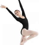 bloch l5409t premier classic long sleeve leotard - tall
