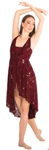 body wrappers k270 sequin lace high low dance dress