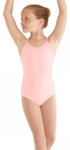 mirella m410c child soft mesh cross back cami leotard