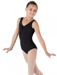 bloch cl5435 childrens devant gathered tank leotard