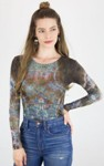 amb design 3010-036 hidden marble crew neck top