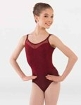 body wrappers p1241 shiny mesh double strap leotard