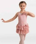 body wrappers 2193 mesh flower dance dress