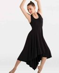 body wrappers 8721 womens butter hi-lo long dress