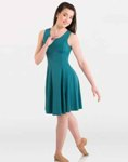 body wrappers 8722 womens and plus butter tank above-the-knee dress