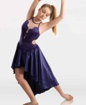 body wrappers 8407 satin dance dress,ballet dance dress