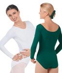 eurotard 10265 adult studio class cotton lycra long sleeve leotard