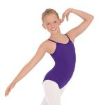 eurotard 4464c child microfiber adjustable princess seam leotard