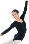 eurotard 10265p plus size long sleeve cotton lycra leotard
