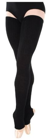 "92 Black Body Wrappers 48/"" Extra Long Stirrup Leg Warmers"