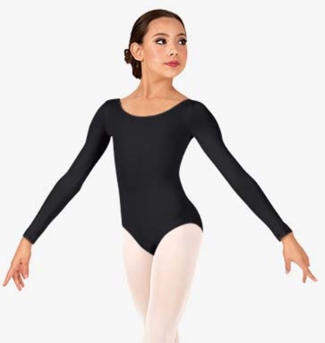 2bb9baafa1a5 bloch cl5609 childs essential basic long sleeve leotard