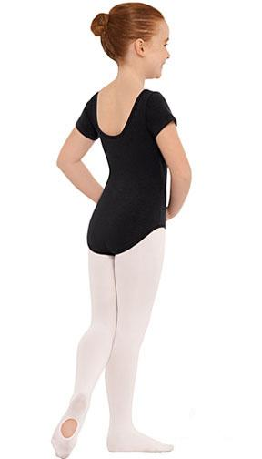 CapezioBig Girls Asymmetrical Long Sleeve Leotard Black 10618C