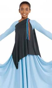 b0b516712d2cf eurotard 13844c child asymmetrical streamer tunic,praise dance ...