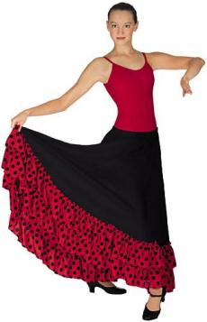 eurotard 08804 dotted double ruffle skirtin skirt,latin skirts