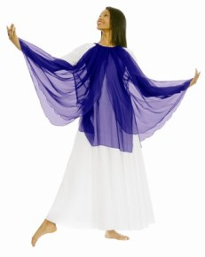 eurotard 39856 praise tunic with layered chiffon and finger loops