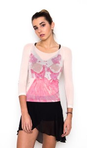 amb design isad-027 dancers in pink isadora long sleeve top