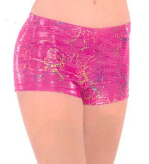 eurotard 30535 metallic splatter shorts