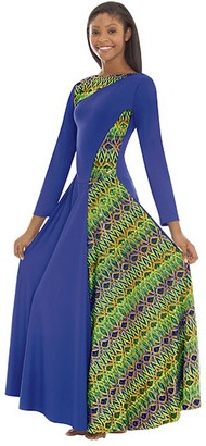 eurotard 63867 joyful praise asymmetrical dress