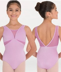 body wrappers p1008 childrens mesh v-necklines and inserts leotard