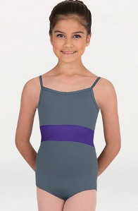 body wrappers p1012 childrens camisole mesh back insert leotard