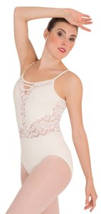 body wrappers p1101 tiler peck camisole romantic lace leotard