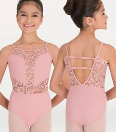 body wrappers p1101 tiler peck child camisole romantic lace leotard