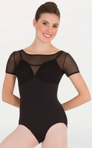 body wrappers p1122 tiler peck petite floral mesh camisole leotard