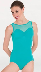 body wrappers p1181 tiler peck pointelle mesh cut out back leotard