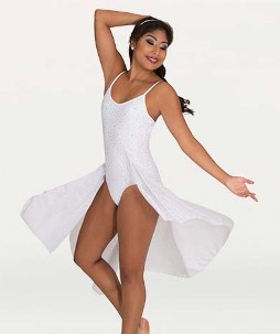 body wrappers tw618 camisole v front low back dance dress