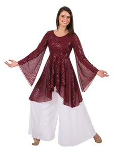 body wrappers tw662 twinkle long sleeve tunic