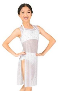 body wrappers tw325 child twinkle power mesh short tunic