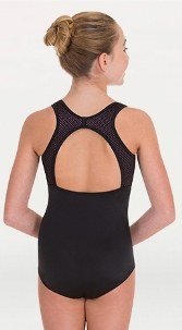 body wrappers p1152 child open racerback leotard