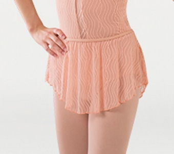 body wrappers p1093 child tiler peck wavy lines mesh skirt