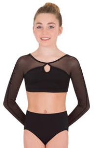 body wrappers p1014 child tiler peck mesh keyhole pullover