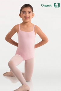 body wrappers ogc124 child organic cotton camisole leotard
