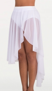 body wrappers nl9110 adult asymmetrical petal front power mesh skirt